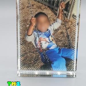bloc photo en verre 8X6, cadeaux personnalisés