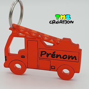 porte-clé camion de pompier, cadeaux personnalisés