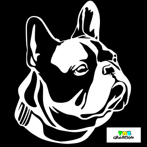 sticker bouledogue français