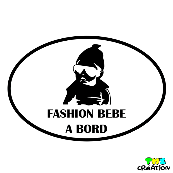 sticker fashion bebe a bord