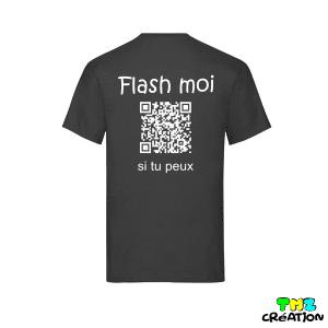 tee shirt humour qr code