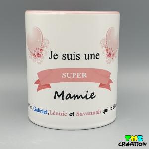 mug super mamie, cadeaux personnalisés