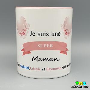 mug super maman, cadeaux personnalisés