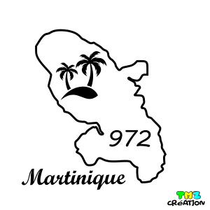 stickers auto martinique
