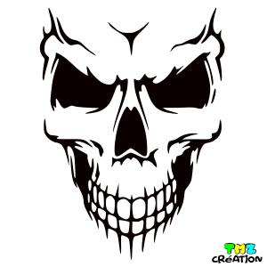 stickers auto skull